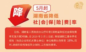5月1日起湖南省降低社会保险费率