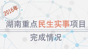 """一图""""验收""""2016年湖南重点民生实事项目完成情况"""