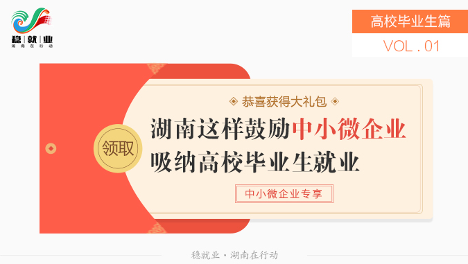 穩就業政策(ce)百事通1|(gun)湖南這樣(yang)鼓勵中小微企業吸納高(gao)校畢業生就業